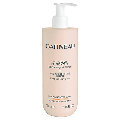 Buy Gatineau Tan Accelerator Lotion, 400ml Online at johnlewis.com