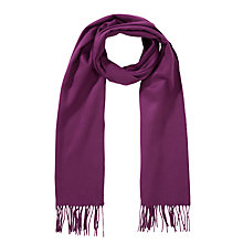 Buy John Lewis Cashmink Plain Scarf, Claret Online at johnlewis.com