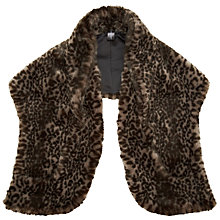 Buy John Lewis Faux Fur Big Wrap, Animal Print Online at johnlewis.com