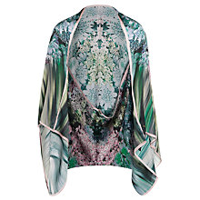 Buy Ted Baker Glitch Floral Silk Cape, Peach Online at johnlewis.com