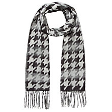 Buy John Lewis Cashmink Dogtooth Scarf, Black Online at johnlewis.com