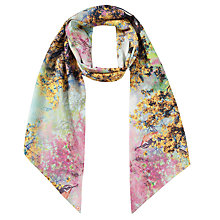 Buy Ted Baker Pretty Trees Print Scarf, Pink Online at johnlewis.com