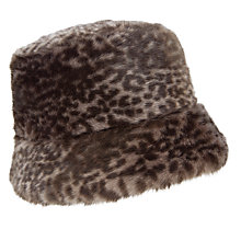 Buy John Lewis Faux Fur Quilted Hat, Animal Print Online at johnlewis.com