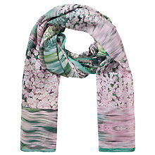 Buy Ted Baker Glitch Floral Blanket Scarf, Peach Online at johnlewis.com