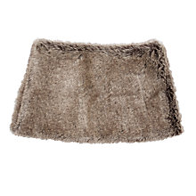 Buy John Lewis Faux Fur Snood, Brown Online at johnlewis.com