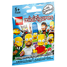 Buy LEGO The Simpsons Minifigure, Assorted Online at johnlewis.com