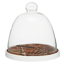 Buy John Lewis Savour Glass Cheese Dome Online at johnlewis.com