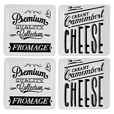 John Lewis Savour Cheese Plates, Set of 4