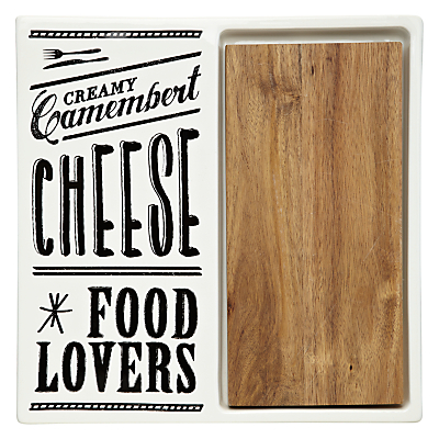 John Lewis Savour Lacquered Cheese Board