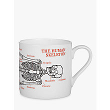 Buy Mclaggan Smith Educational Skeleton Mug, 0.45L Online at johnlewis.com