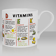 Buy Mclaggan Smith Educational Vitamins Mug, 0.45L Online at johnlewis.com
