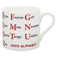 Buy Mclaggan Smith Educational Nato Alphabet Mug Online at johnlewis.com