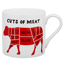 Buy Mclaggan Smith Educational Cuts Of Meat Mug Online at johnlewis.com