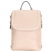 Buy Jigsaw Pepworth Leather Rucksack, Nude Online at johnlewis.com