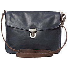 Buy White Stuff Astrid Leather Handbag, Navy Online at johnlewis.com