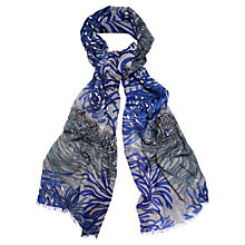 Buy Phase Eight Flo Chrysanthemum Print Scarf, Blue Online at johnlewis.com