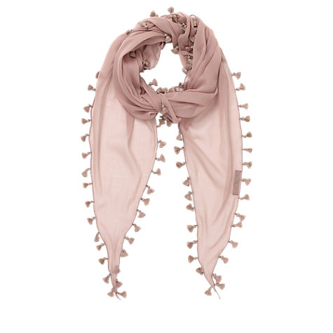 Buy Jigsaw Mini Tassel Scarf Online at johnlewis.com