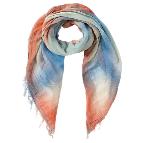 Buy Jigsaw Paint Check Scarf, Multi Online at johnlewis.com