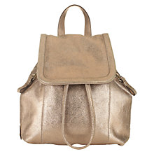 Buy Jigsaw Mini Pepworth Suede Rucksack, Gold Online at johnlewis.com