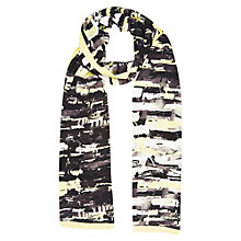 Buy Windsmoor Lunar Print Scarf, Black Multi Online at johnlewis.com