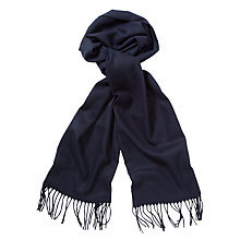 Buy John Lewis Cashmink Plain Scarf, Navy Online at johnlewis.com