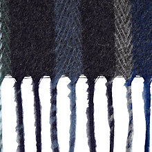Buy John Lewis Cashmink Stripe Scarf, Blue/Grey Online at johnlewis.com