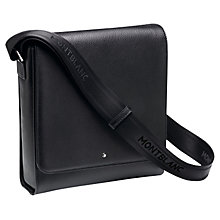Buy Montblanc Meisterstück Soft Grain Leather North South Bag, Black Online at johnlewis.com