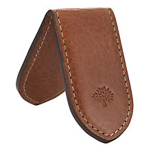 Buy Mulberry Leather Money Clip, Oak Online at johnlewis.com