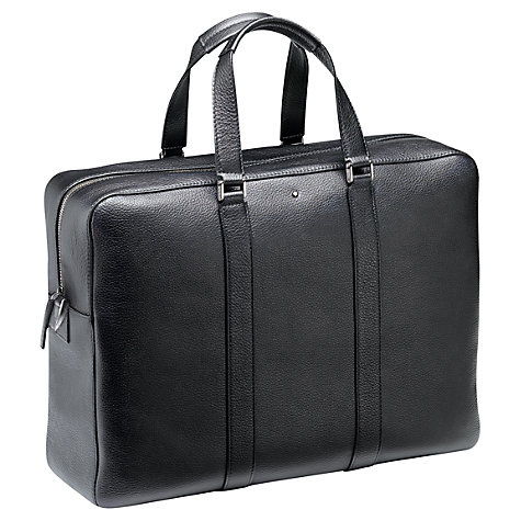Buy Montblanc Meisterstück Soft Grain Leather Document Case, Black Online at johnlewis.com