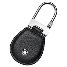Buy Montblanc Meisterstück Soft Grain Leather Key Fob, Black Online at johnlewis.com
