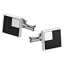 Buy Montblanc Iconic Square Stainless Steel Onyx Cufflinks, Silver/Black Online at johnlewis.com