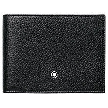 Buy Montblanc Meisterstück Soft Grain Leather 6 Card Wallet, Black Online at johnlewis.com