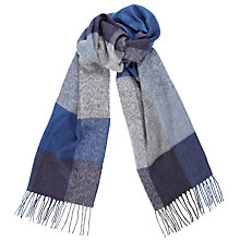 Buy John Lewis Cashmink Large Square Scarf, Blue/Grey Online at johnlewis.com