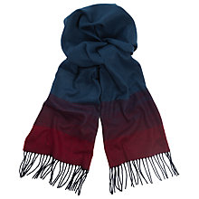 Buy John Lewis Ombre Herringbone Cashmink Scarf, Navy/Burgundy Online at johnlewis.com