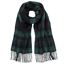 Buy John Lewis Wool Watch Scarf, Black/Green Online at johnlewis.com