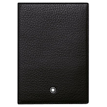 Buy Montblanc Meisterstück Soft Grain Leather Passport Holder, Black Online at johnlewis.com