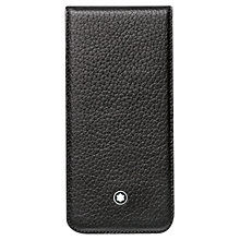 Buy Montblanc Meisterstück Soft Grain Leather Cover for iPhone 5 & 5S, Black Online at johnlewis.com