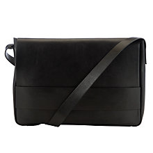 Buy Kin by John Lewis Charles Leather Shoulder Bag, Black Online at johnlewis.com