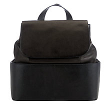 Buy Kin by John Lewis Meyrick Leather Backpack, Black Online at johnlewis.com
