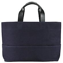 Buy Kin by John Lewis Bronte Oversized Leather Tote Bag, Navy Online at johnlewis.com