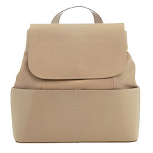 Buy Kin by John Lewis Meyrick Leather Backpack, Taupe Online at johnlewis.com