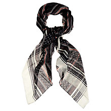 Buy Oasis Nautical Spot Stripe Scarf, Navy Online at johnlewis.com