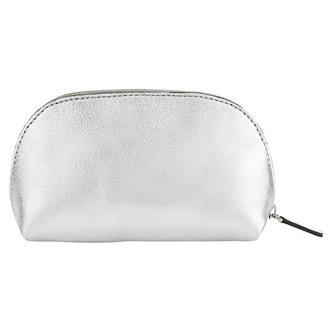 Buy Jigsaw Small Crescent Pouch, Silver Online at johnlewis.com