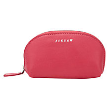 Buy Jigsaw Crescent Leather Zip Top Pouch Online at johnlewis.com