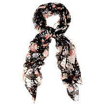 Buy Oasis Pretty Pink Floral Scarf, Black Online at johnlewis.com