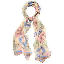 Buy Jaeger Light Straw Letter Scarf, Multi Online at johnlewis.com