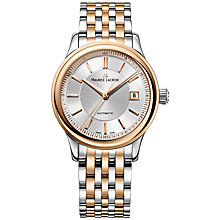 Buy Maurice Lacroix LC6027-PS103-131 Men's Moonphase Round Dial Leather Strap Watch, Silver Online at johnlewis.com