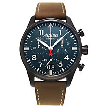 Buy Alpina AL-372N4FBS6 Men's Startimer Pilot Big Date Watch, Blue Online at johnlewis.com