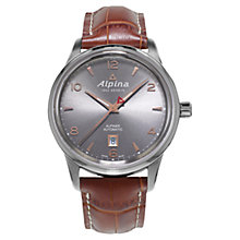 Buy Alpina AL-525VG4E6 Men's Alpiner Automatic Stainless Steel Watch, Grey Online at johnlewis.com