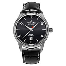 Buy Alpina AL-525B4E6 Men's Alpiner Automatic Dome Watch, Black Online at johnlewis.com